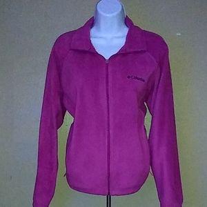Hot Pink Columbia Fleece Jacket SZ Medium